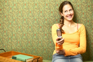 woman with cell phone, sexting, texting