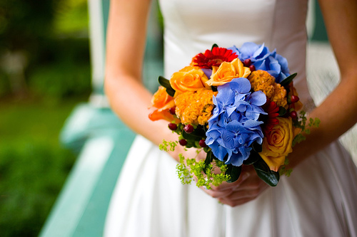 bouquet, wedding, flowers