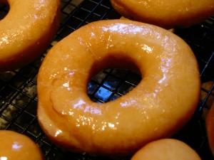 Glazed doughnut, homemade doughnut
