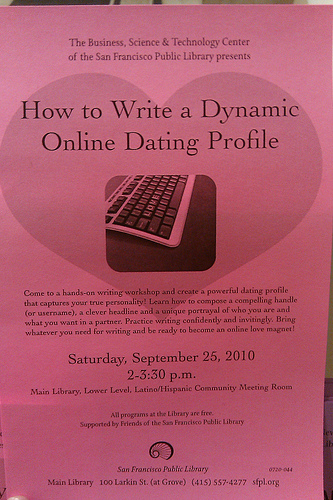 Picture of a book about how to write online dating profiles