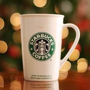 Starbucks cup, coffee