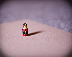 Figurine standing all alone