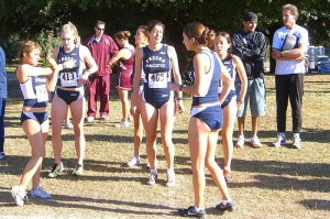 Women runners at starting line for a race