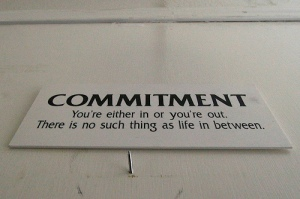 Commitment sign