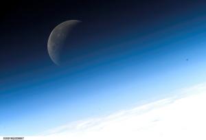 crescent moon, sky