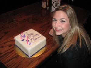birthday cake and me