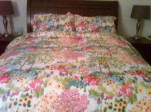 Flower Pottery Barn bedding