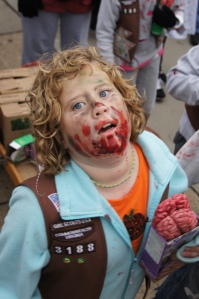 child zombie, Girl Scouts zombie