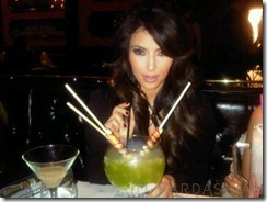 kim kardashian picture with drink
