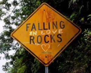 love rocks sign