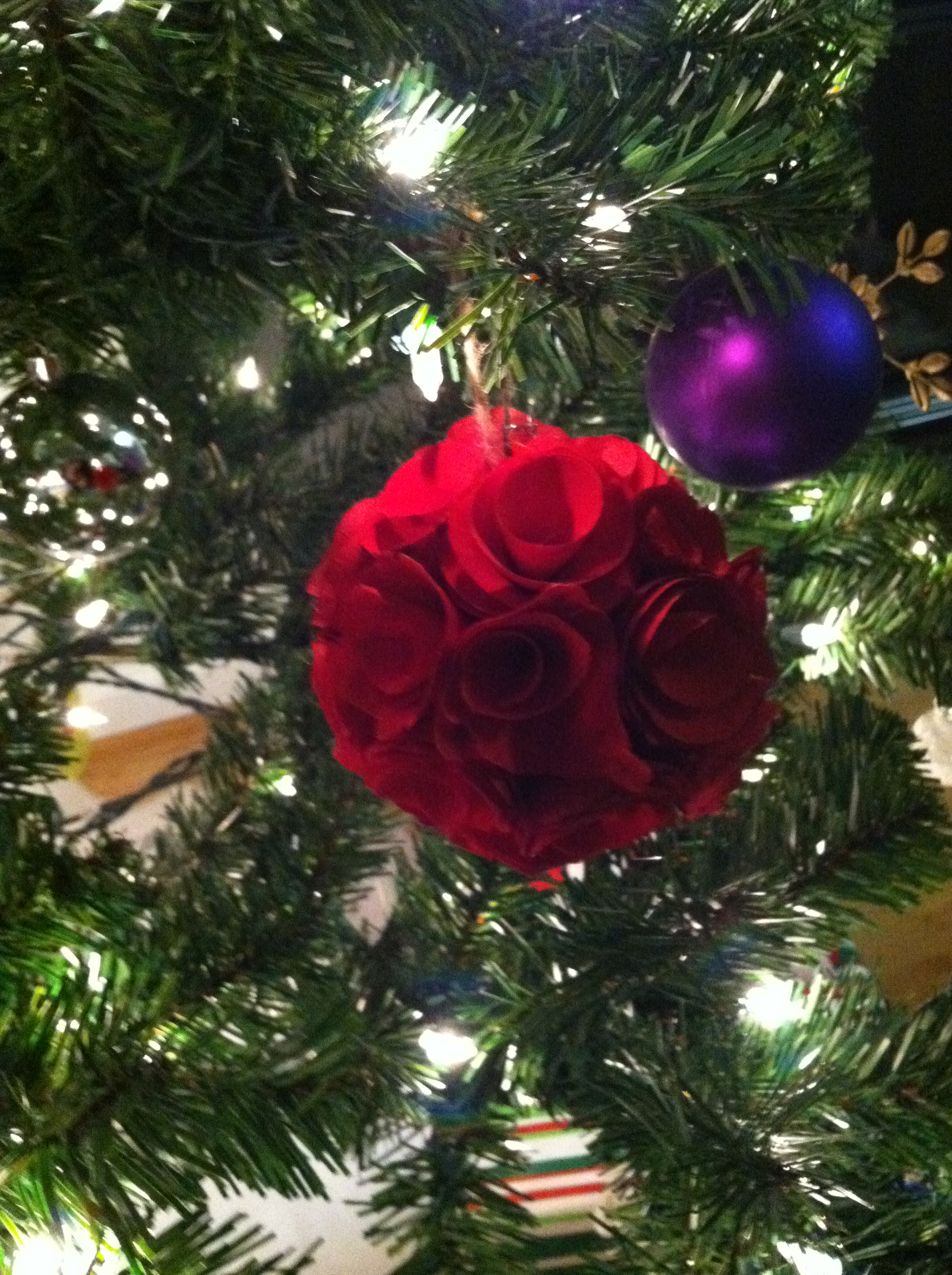Rose christmas ornament - Flower Christmas Ornament Red Rose