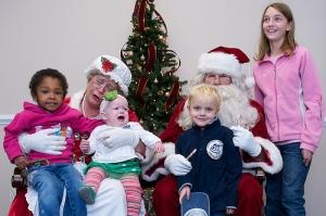 Kid crying on Santa's lap