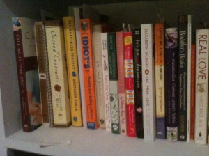 self help book, advice book, dating book, book shelf
