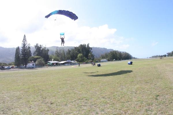 skydiving descent