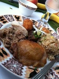 food at luau