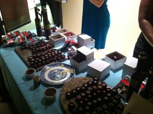 Chocolate table