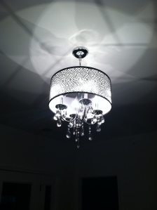 ceiling light and chandelier