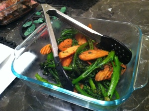 Broccolini and carrots