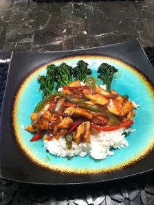 Stir fry and rice dinner