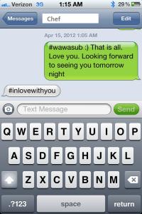 text with boyfriend