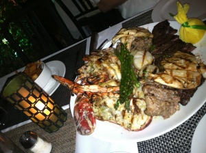 Miami mixed grill dinner