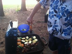 cooking on a grill