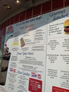 Menu at Bop's Frozen Custard