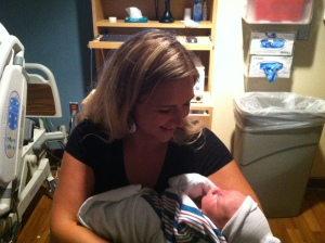Holding a newborn