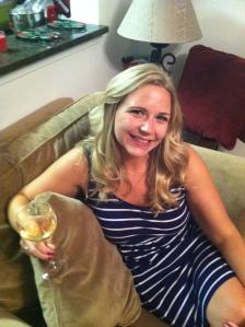 drinking champagne, celebrating