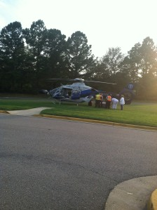 helicopter at a hospital