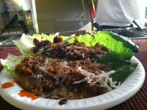 lettuce wraps, thai wraps, thai food